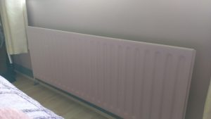 One Room Challenge pink radiator