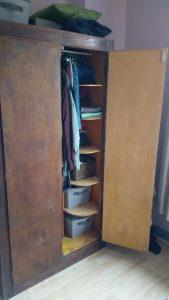 One Room Challenge Wardrobe before