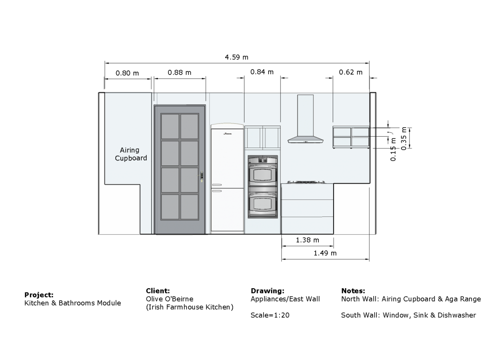 Sample Drawings: kitchen elevation